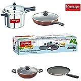 Prestige Popular 5L Pressure Cooker + Prestige Build Your Kitchen Set of 3 P Non-Stick Cookware Combo Offer