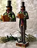 2pc Jim Shore Heartwood Creek Man And Woman Christmas Caroler Ornaments #4005295