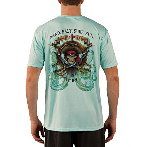 SAND.SALT.SURF.SUN. Pirate Octopus Men's UPF 50+ Short Sleeve T-Shirt XX-Large (Short Sleeve Sun Life)