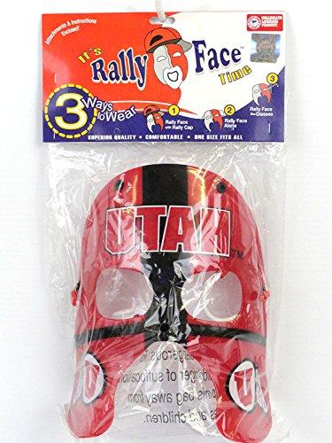 Mask Costume Utah (NEW NCAA Utah Utes Rally Face Mask NIB NR)