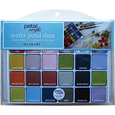 Petal Crafts Palette Dust Set 24 Matte Colors & 24 Dazzler Colors (48 Pack)