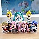 Hatsune Miku Sakura Megurine Luka Kagamine Rin Len Figures Toy Set of 7pcs NEW