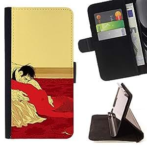 Momo Phone Case / Flip Funda de Cuero Case Cover - Sexo Oral Mujer Hombre Cama Vampire erótica caliente - Samsung Galaxy S5 Mini, SM-G800