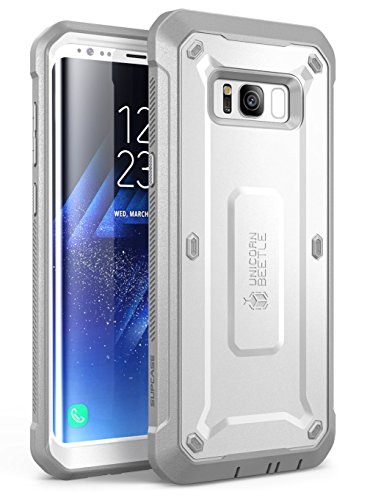 Samsung Galaxy S8 Case, SUPCASE Full-body Rugged Holster Case with Built-in Screen Protector for Galaxy S8 (2017 Release), Not Fit Galaxy S8 Plus, Unicorn Beetle Shield Series - Retail Package (White)