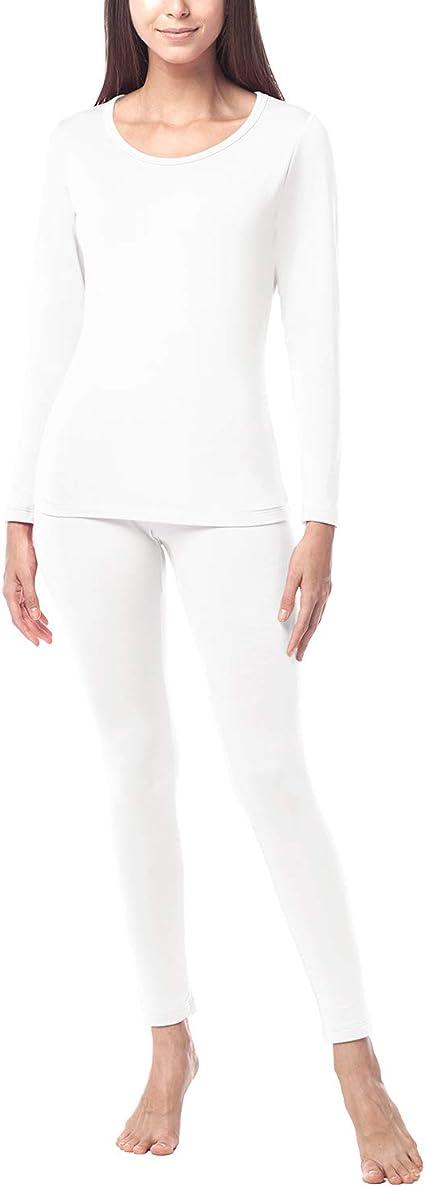 LOMON Thermal Underwear for Women Plus Velvet Long Johns Set Base Layer Top /& Bottom