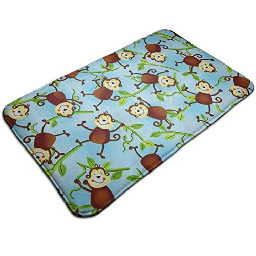 (Tuoneng Jungle Camp Monkeys,Kitchen Carpet Rug Door Mat Rug for Bathroom Outdoor Porch Laundry Living Multifunction Doormat (19.5