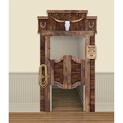 (Amscan 242025 Western Deluxe Functional Saloon Door Decoration Party Supplies, 84 3/4