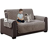Home Dynamix Reversible Couch Cover  Spills, Stains, Rips & Wear Protector,Grey,110x70.5