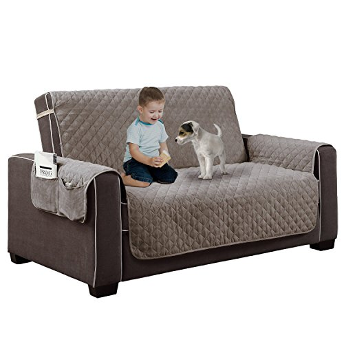 Home Dynamix Reversible Couch Cover | Spills, Stains, Rips & Wear Protector (Pet Couch Covers For Furniture)