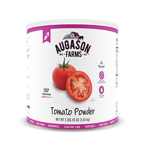 Augason Farms Tomato Powder Emergency Food Storage 3 lbs 10 oz No. 10 Can