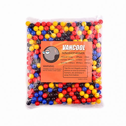 "Vancool 3/8""(10mm) Professional Plastic multicolor Slingshots Ammo,multicolor balls 500 per pack"