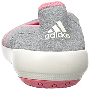 adidas Outdoor Women's Boat Slip-On Sleek Water Shoe, Med Grey Heather/Chalk White/Super Blush, 7.5 M US