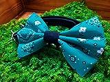 Jade Green Paisley Pet Bow Tie