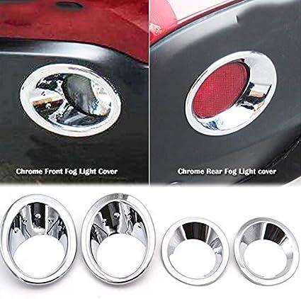 Fit for Nissan Qashqai//Dualis J10 2007-2009 l/éger Couverture brouillard avant chrom/é Pare-chocs arri/ère Lampe Moulure Garniture cadre Accent Couleur : Argent SHIYM-WU