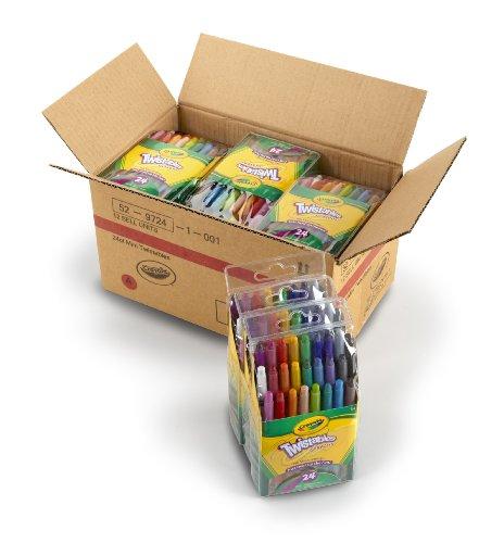 (Crayola Mini Twistable Crayons, (24 Colors per case) - Case of 12)