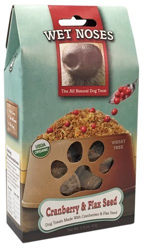 Wet Noses Cranberry and Flaxseed Dog Treats, 1.5 Ounce Bag