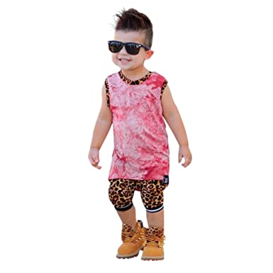 f15b56b9ad8 6 year old boy clothes Source · Amazon com Euone Baby Outfit 0 5 Years Old  Boys Bear Leopard Vest T