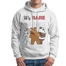 We Bare Bears Hoodies For Men Size S White