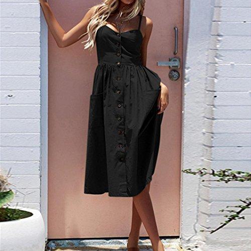 Pagliaccetto Estate da Donna da off feiXIANG® Senza Spiaggia principessa Tuta Shorts Vestito Elegante Mini donna Pantaloncini Jumpsuit Jumpsuit Nero maniche spalla abito dIqw4YI