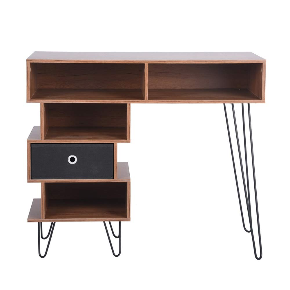 Aingoo Writing Desk, Modern Computer Desk with Bookshelf Efficient Space Storage Workstation by Lingoes (Image #1)