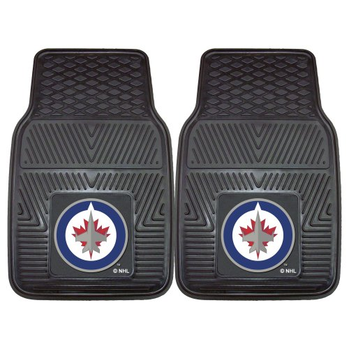 (Fanmats 10519 NHL Winnipeg Jets Front Row Vinyl Heavy Duty Car Mat - 2 Piece)