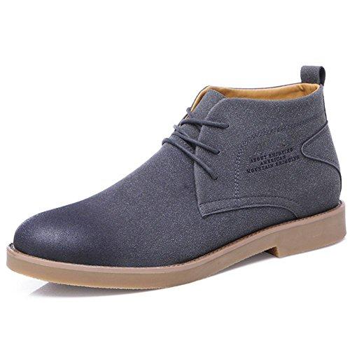 TAOFFEN Stivali Desert Uomo Modello Short Boots Gray