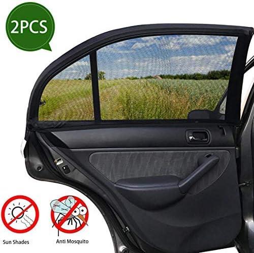Autovorh/änge 4-teiliges Set UV-Visierschutz SmartSpec Universal-Sonnenschutz f/ür Seitenfenster Netzabdeckung Sichtschutz