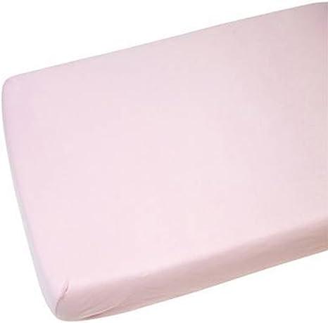 Cuna Cama 100% algodón Jersey Sábana Bajera Ajustable Rosa 140 x ...