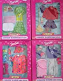 Barbie Changin' Seasons FASHIONS Dress 'N Play Set of 4: Summer, Autumn, Winter & Spring - Easy to Dress (1997 Arcotoys, Mattel)