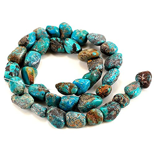 01 Blue Hubei Turquoise Nugget 10-14mm for Necklace Gemstone Loose Beads 15
