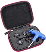 Gofotu Golf Head 1 Set Golf Customer Weights Kit for Titleist TSi 2 Driver&Wood 3g 5g 11g 13g+Case+Wr