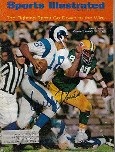 1967 Packers Willie Davis Autographed Signed Sports Illustrated Magazine Jsa Coa Auto Si