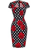 GRACE KARIN 50s Pin up Dress Knee Length Pencil...