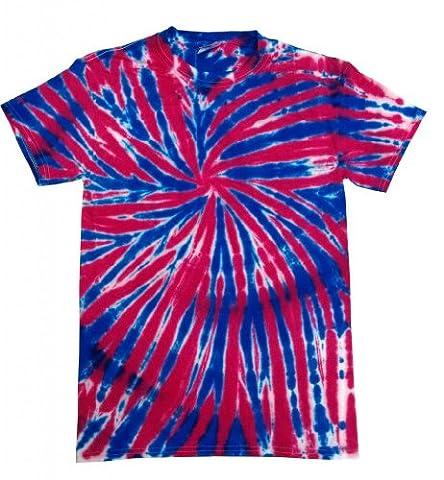 Buy Cool Shirts Kids Tie Dye Shirt Red White Blue USA Union Jack T-Shirt 6-8 - Boys Blue Tie Dye