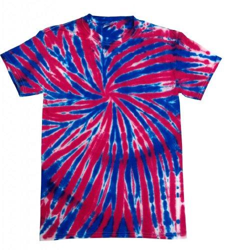 Buy Cool Shirts Mens Tie Dye Shirt Red White Blue USA Union Jack T-Shirt 3XL