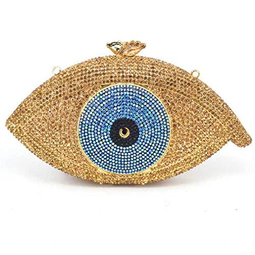 Pochette Party Purse Bag Femme Clutch Day Evil Eye Bag Crystal Bag ULKpiaoliang Bag Gold Evening Silver Women Gold Clutch 1RYqPw4