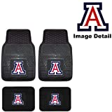 Instantly customize your car, truck, van or SUV with these brand new set of collegiate floormats. Universal size fits almost all vehicles. Easy to wash and very durable. Protects your vehicle's carpet from damage.