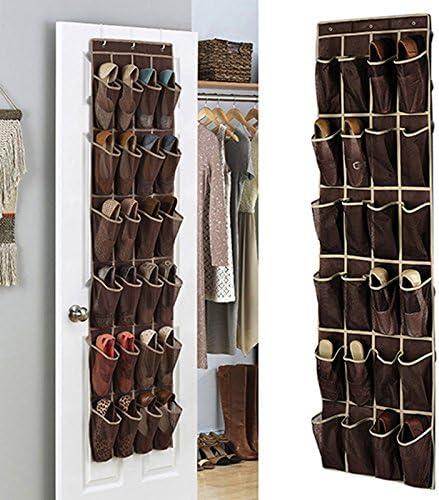 24 Bolso de Espacio de Zapatos de la Puerta, Zapatero de la pared,Gabinete para Calzado de almacenamiento de bolsas: Amazon.es: Hogar
