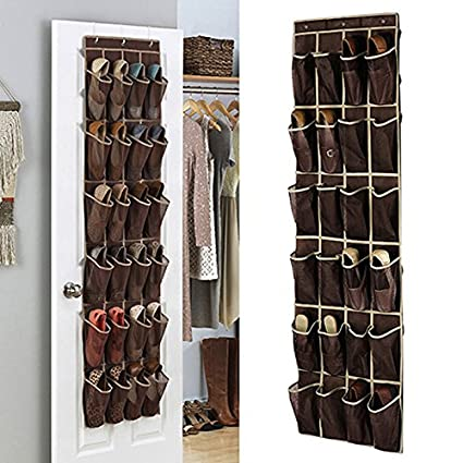 Scarpiera da appendere alla porta con 24 tasche porta scarpe ...