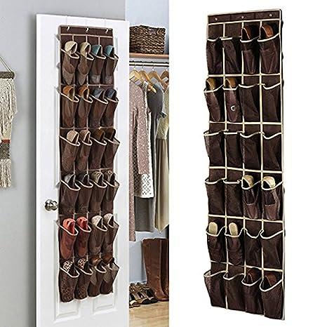 Scarpiera da appendere, 24 tasche scarpe mensola per armadio, porta ...