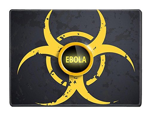 Luxlady Natural Rubber Placemat Image Id  36945903 Biohazard Symbol With A Button On The Wall