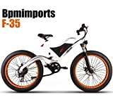 WHITE FRAME ORANGE RIMS !!! 750watts FAT TIRE 48V 4' KENDA TIRES SAMSUNG BATTERY 26 inch wheels Electric Bicycle bike !!DUAL SUSPENSION