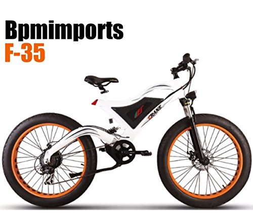 WHITE FRAME ORANGE RIMS !!! 750watts FAT TIRE 48V 4' KENDA TIRES SAMSUNG BATTERY 26 inch wheels Electric Bicycle bike !!DUAL SUSPENSION by Bpmimports