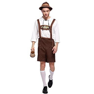 Amazon.com  Amurleopard Mens Oktoberfest German Bavarian Lederhosen  Costume  Clothing 7926f4ddf