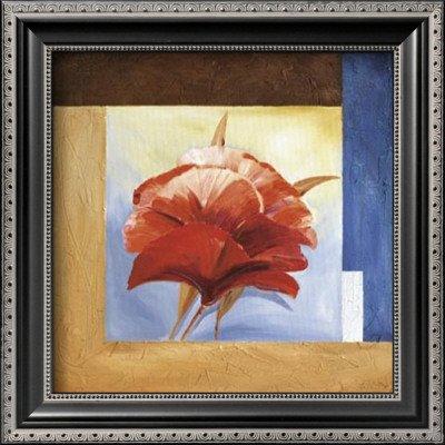 Passionate Poppies II Framed Art Poster Print by Alfred Gockel, 12x12 - Alfred Gockel Flowers