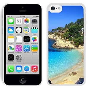 NEW Unique Custom Designed iPhone 5C Phone Case With Ibiza Beach Landscape_White Phone Case