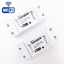HEANTTV Sonoff Wireless Switch Universal Smart Home Automation Module Timer Diy Wifi Switch Remote Controller Via IOS Android,2 pcs