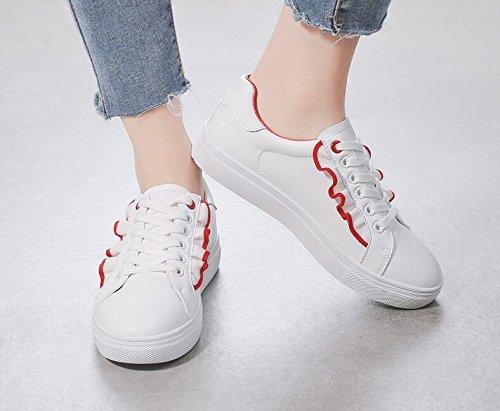 Sport Chaussures Femmes Sneakers de Sports Koyi Red étudiants Pompes Chaussures pour Espadrilles Casual Lace Up Girls gSwz0gRqxA