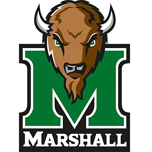 (Marshall University Thundering Herd Logo Sports Buffalo Edible Cake Topper Image ABPID03385 - 1/4 sheet)