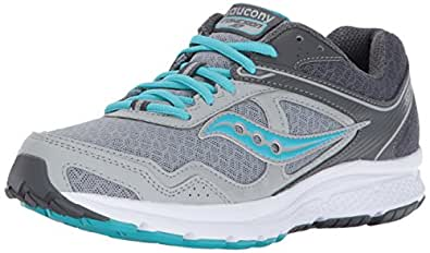 Saucony Women's Cohesion 10 Running Shoe, Grey Blue, 10 Medium US